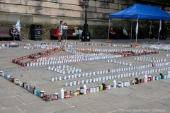 foodbank installation on the flag market