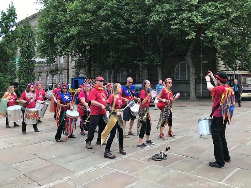 Worldwise Samba Drummers arrive on Flag Market