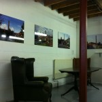 First pictures hung in the gallery space