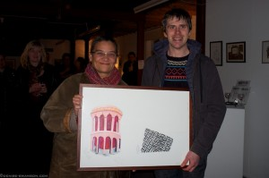 James Diable wins the painting by Lubaina Himid in our Winter raffle