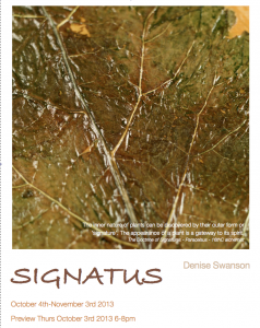Signatus: a new installation by Denise Swanson